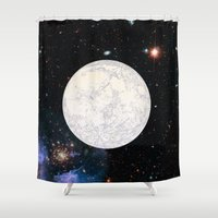 earthbound Shower Curtains featuring Moon machinations by anipani