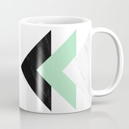 Contrast Marble Mint Arrows Collage Coffee Mug