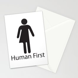 Human First Stationery Cards