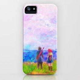 Dragon Quest XI Intro Impressionist Painting iPhone Case