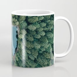 Hidden Lake in a Forest - Landscape Photography Coffee Mug