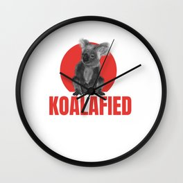 Highly Koalafied Ironworker design Funny product Wall Clock