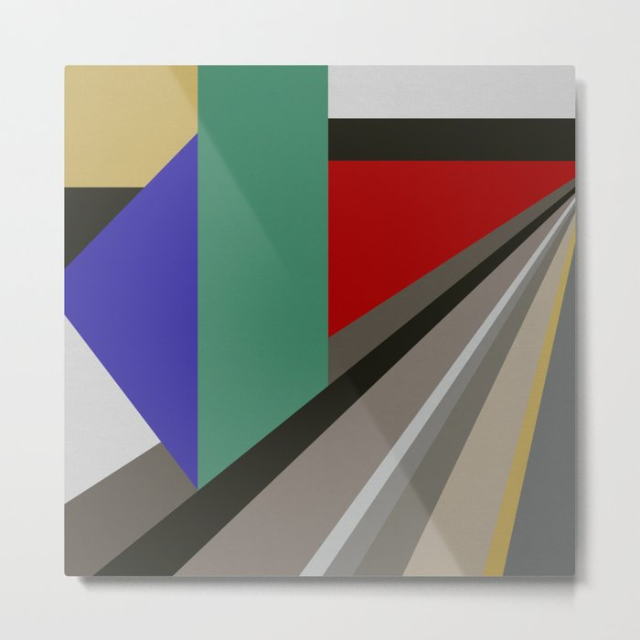 TRAVEL TO NOWHERE ABSTRACT Metal Print