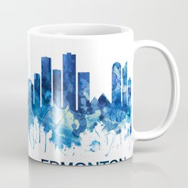 Edmonton Canada Skyline Blue Coffee Mug