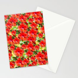 Hibiscus Flower - Red Stationery Cards