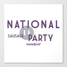 National Sausage Party Canvas Print