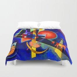 Kandinsky In Blue Duvet Cover
