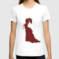 victorian T-shirts featuring VICTORIAN WOMAN by Caio Trindade