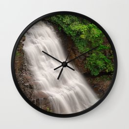Muddy Creek Falls Wall Clock