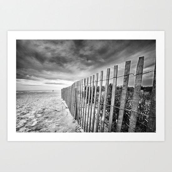 Ocean City Sand Dune Fence Art Print