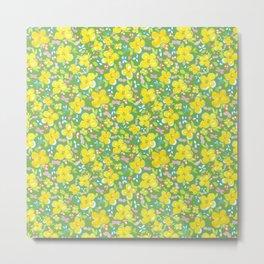 March floral garden pattren design (greeny) Metal Print