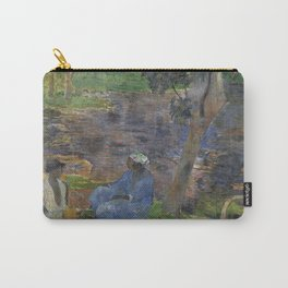 1887 - Gauguin - On the shore of the lake at Martinique Carry-All Pouch