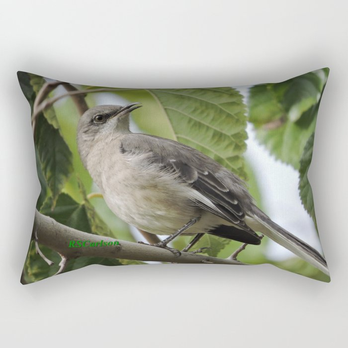 Mockingbird in a Mulberry Tree Rectangular Pillow