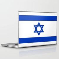 israel Laptop & iPad Skins featuring Flag of Israel by Neville Hawkins