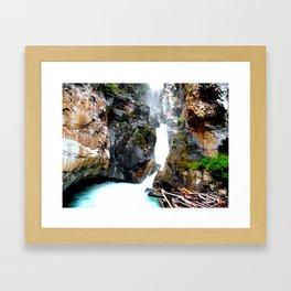 Falls Johnston Canyon Alberta Framed Art Print