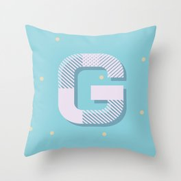 G is for Glamorous Throw Pillow