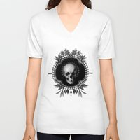 renaissance V-neck T-shirts featuring Renaissance Noir III by Olivia Cho