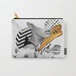 collage art (girl) Carry-All Pouch