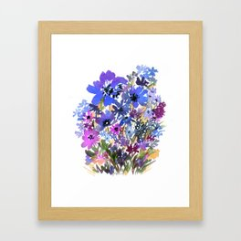 Heavenly Blues and Purples Framed Art Print