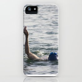 Swimming at the beach iPhone Case