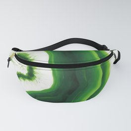 Green Agate Geode slice Fanny Pack