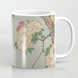 Cherry Blossoms on Spring River Ukiyo-e Japanese Art Coffee Mug