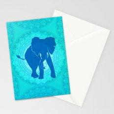 Turquoise Elephant  Stationery Cards
