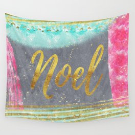 NOEL - Merry modern abstract christmas Wall Tapestry