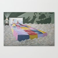 neverland Canvas Prints featuring neverland by Justin Kendall