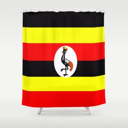 Flag of Uganda Shower Curtain