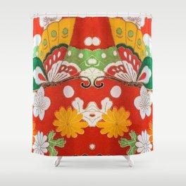 A Garden Girls' Day Kimono Shower Curtain