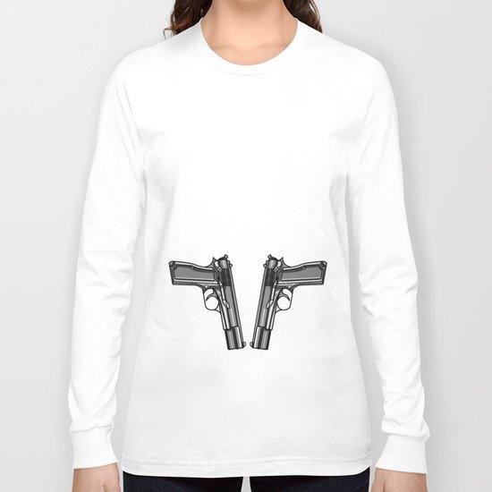 Hip Tattoo Pistols Long Sleeve T-shirt