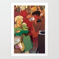 The Dumpling Princess - THE MEETING Art Print
