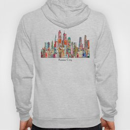 kansas city Missouri skyline Hoody