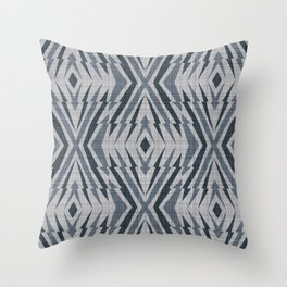 Geometric pattern. Rhombuses and lines Throw Pillow