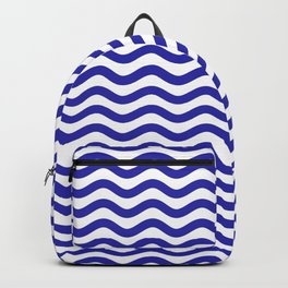 Waves (Navy & White Pattern) Backpack