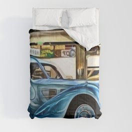 Vintage 1938 French Model Type 57 Atlantic Sports Coupe Painting Comforters