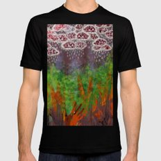 Partly Cloudy with Grey Eyes MEDIUM Mens Fitted Tee Black