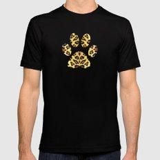 Leopard print Mens Fitted Tee MEDIUM Black