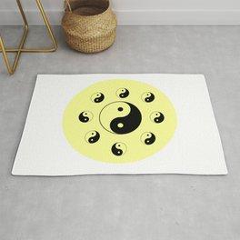 Yin and Yang 12 - Tao,Zen,Taoism,Dao,Harmony,religion,buddhism,buddhist,taijitu,taiji,taoist,china Rug