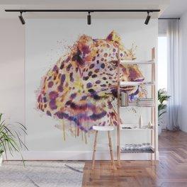 Leopard Head Wall Mural