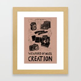 Weapons Of Mass Creation - Photography (blk on brown) Framed Art Print