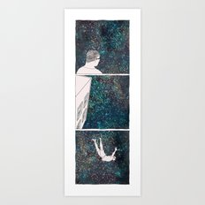SHORTEN THE DISTANCE BETWEEN US  Art Print