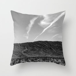 Desert Beauty | Remote Isolated Contrail Clouds Serene Calm Desolation Throw Pillow