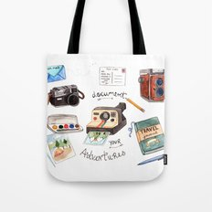 Document Your Adventures Tote Bag
