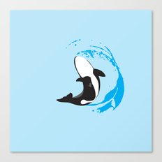 Oh Whale! | Animals Canvas Print