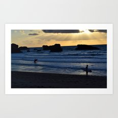 Catching the Last Wave Art Print