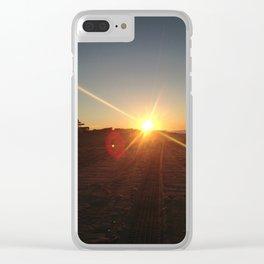 Ocean Sunrise Clear iPhone Case