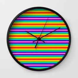 Multi color striped Wall Clock