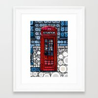 telephone Framed Art Prints featuring Telephone by start from scratch